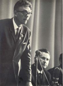 Foto: Aadu Lass 1967. aastal Baltimaade maanteelaste V teaduslik-tehnilisel konverentsil Vilniuses.
