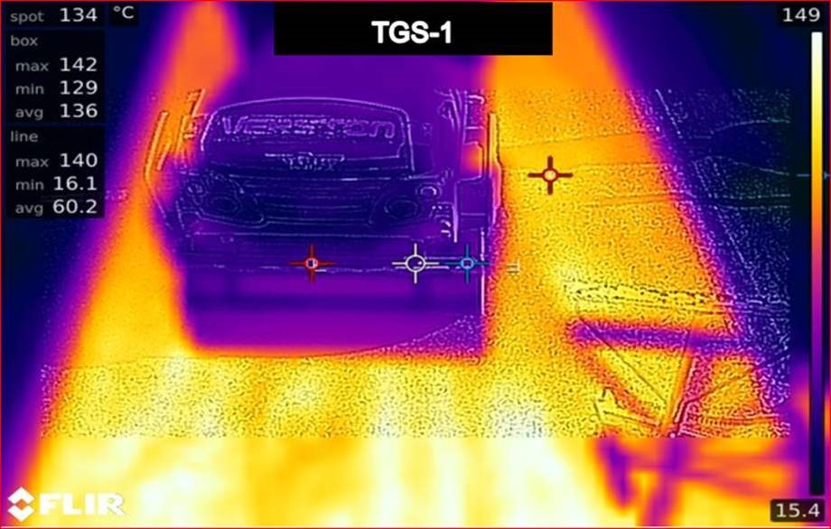 Foto: Termopildil on näha nii häiringute tekitajad (teerull) kui ka jahedamad kohad (riskialad).