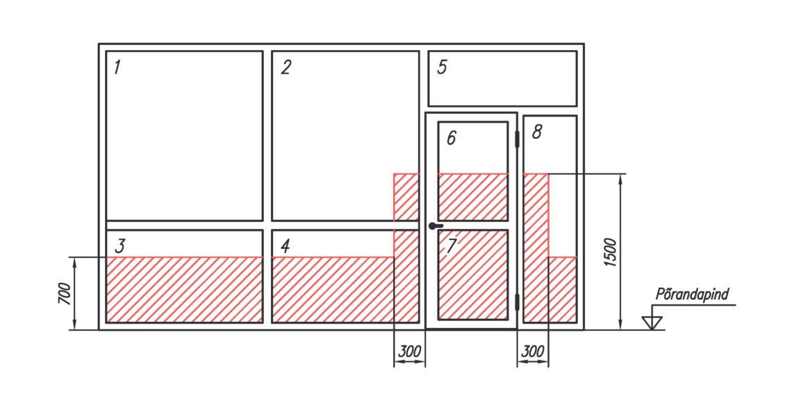 Üldkasutatavate ruumide uksed ja aknad.