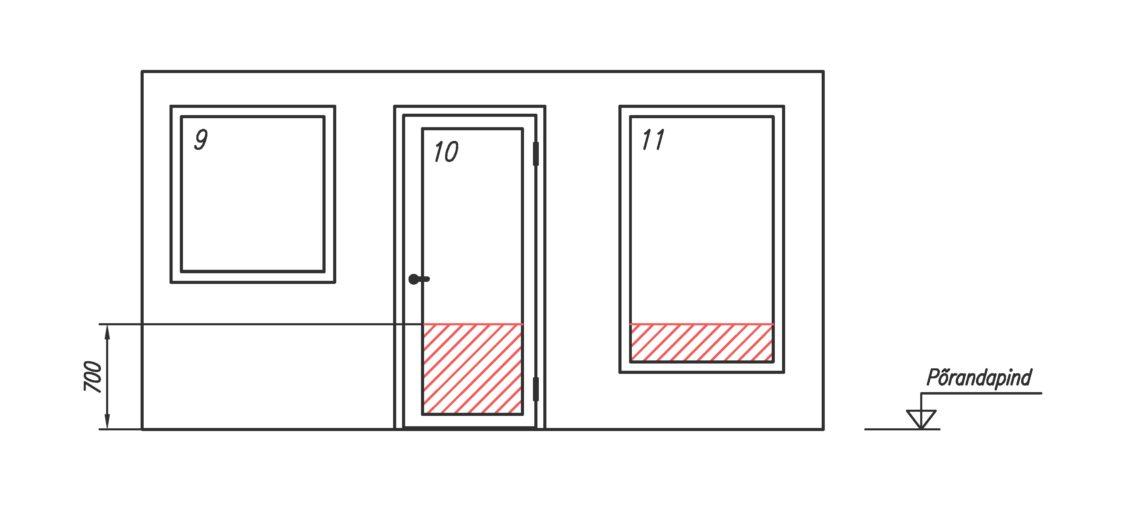 Eluruumide uksed ja aknad.