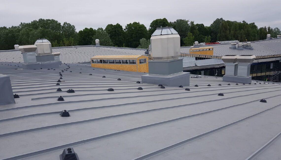 Maailma parimad katused, lamekatuste üks võitja: lätlaste muuseumikompleksi PVC-rullmaterjalist valtskatuse imitatsioon.