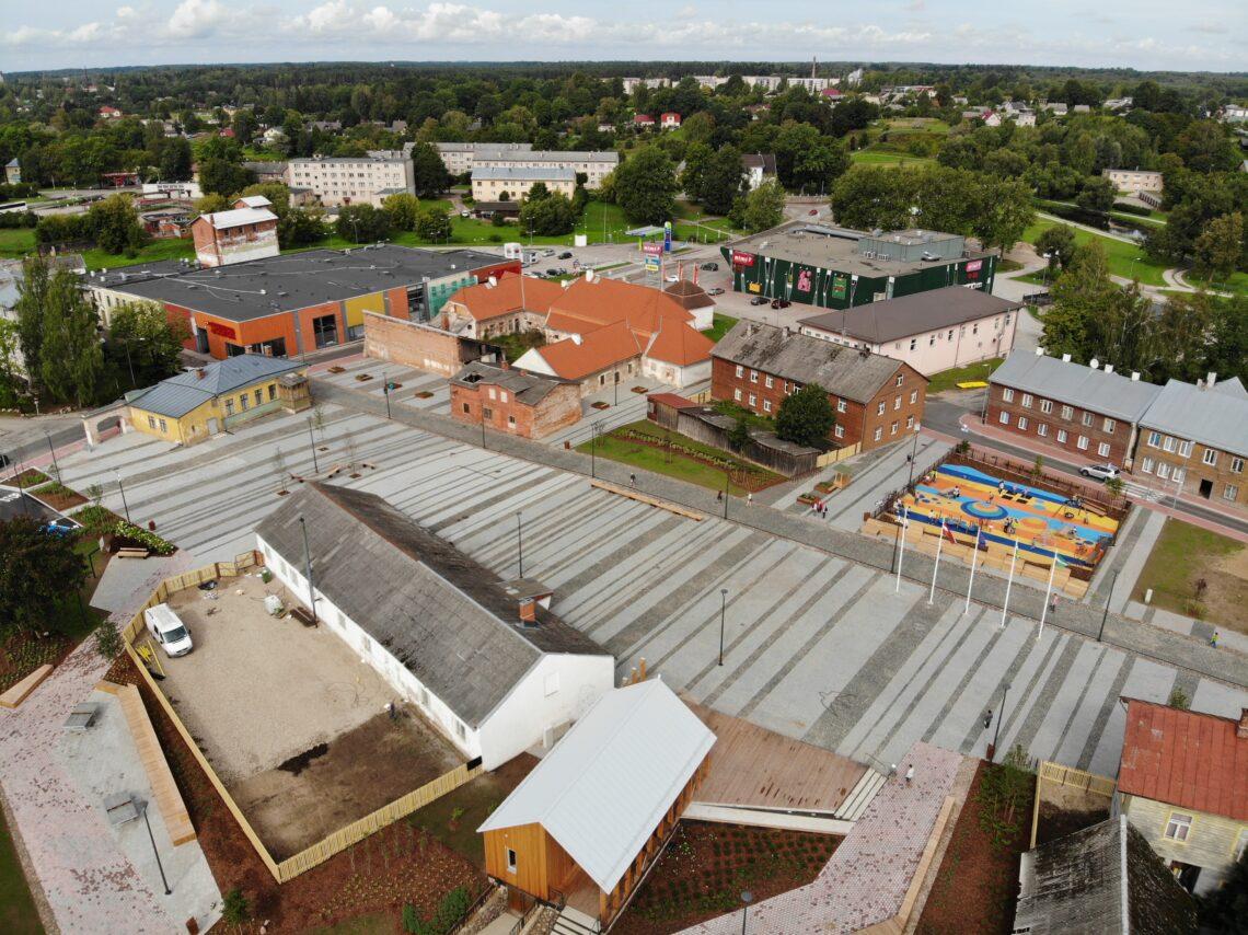 Eesti Maastikuarhitektide Liidu aastapreemia 2019 nominent, Valga keskväljak. Foto: Gunnar Ling