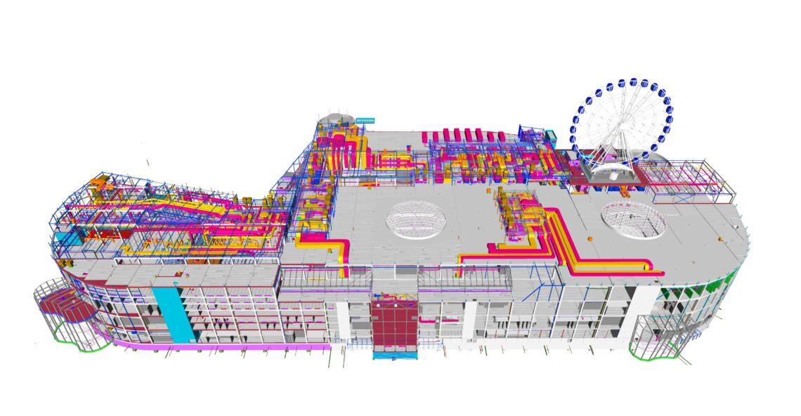 T1 kaubanduskeskus mudelis.