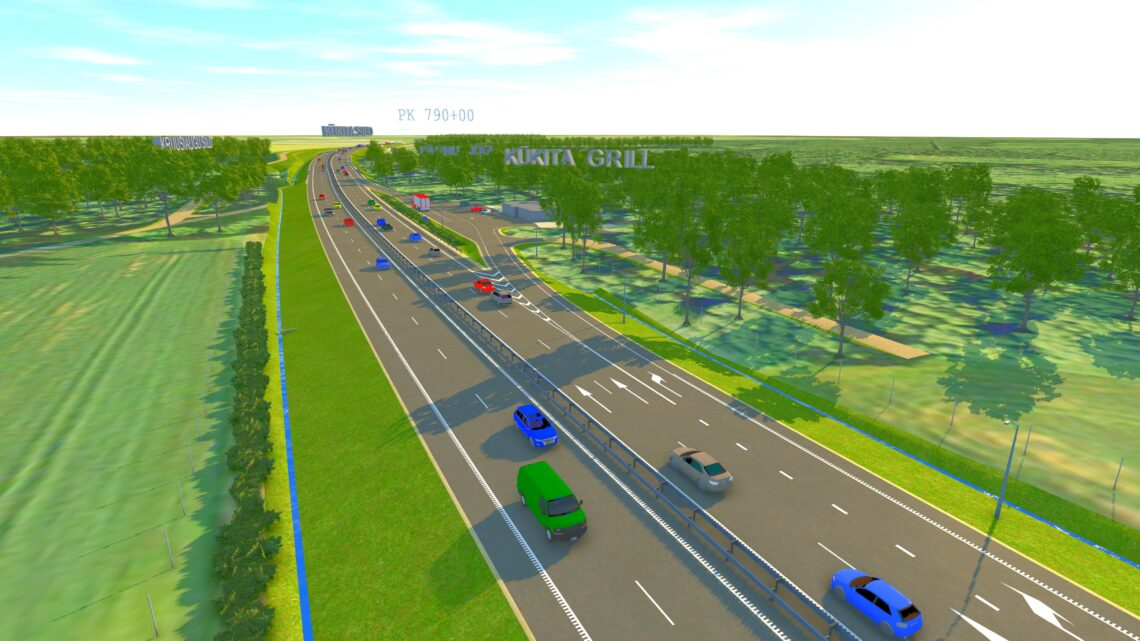 Põhja regioonis on mahukad ning olulised tööd nii Väo liiklussõlm kui ka<br /> Võõbu–Mäo lõik (pildil). Illustratsioon Reaalprojekt OÜ