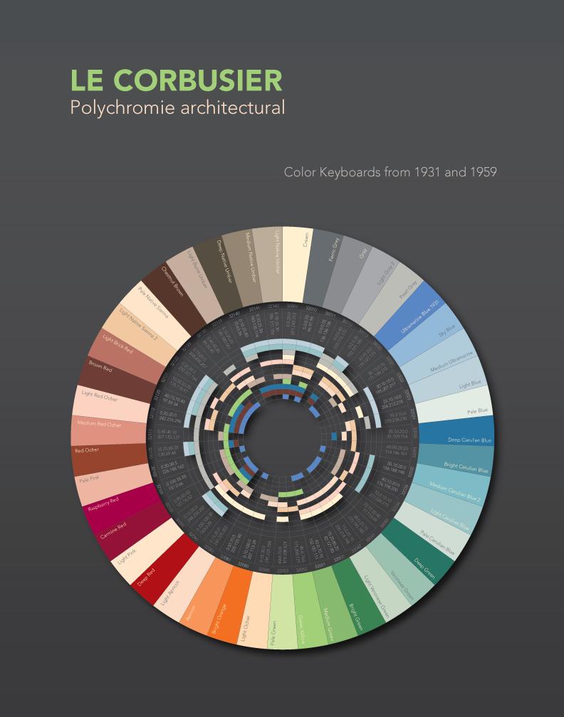 Le Corbusier lõi harmoonilisi interjööre loodusvärvide 63 tooni kombineerimisel.