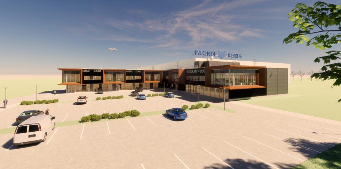 NOBE ja Eventus Ehitus ehitavad Pakendikeskuse 5,3 miljonit maksva logistikakeskuse