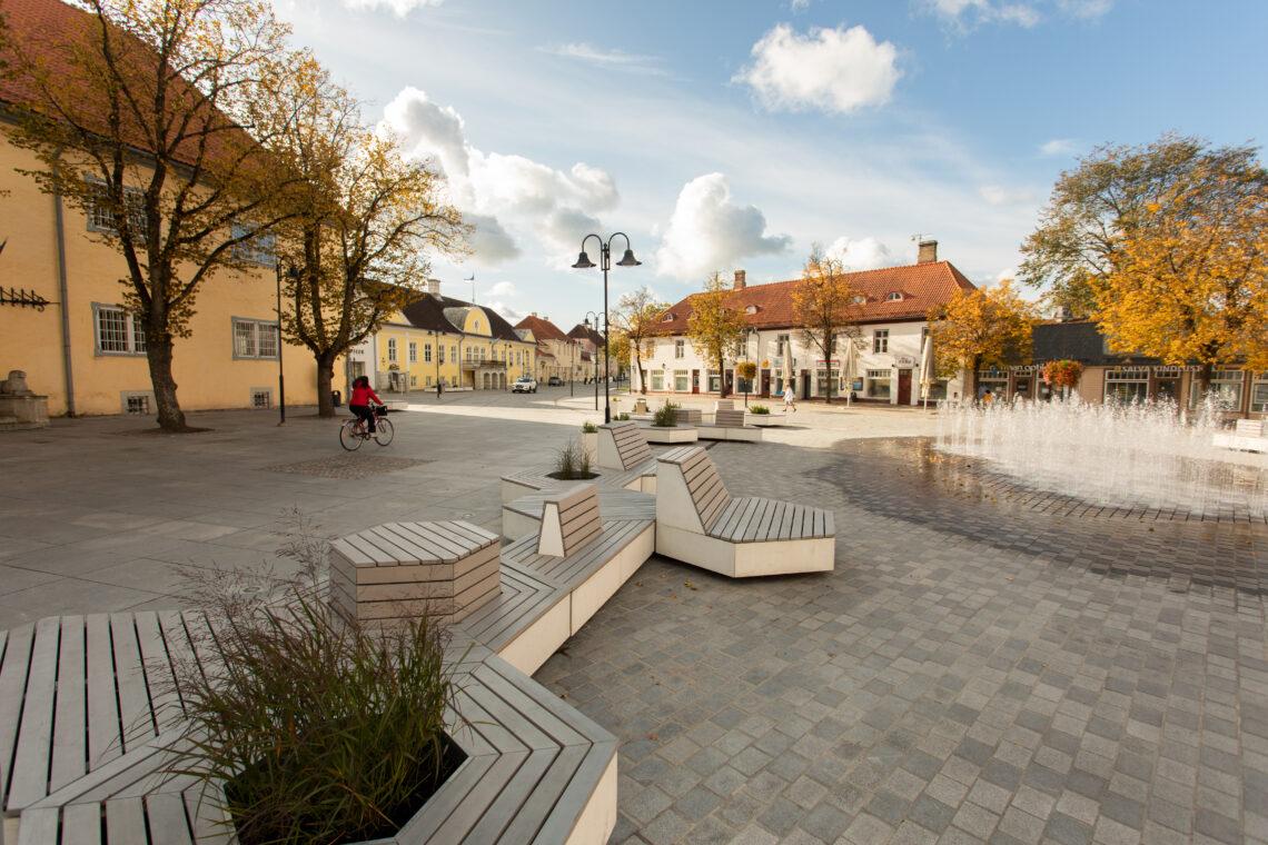 Kuressaare linnakeskus. Eesti Maastikuarhitektide Liidu aastapreemia 2020 nominendid. Foto: Pilleli Läets