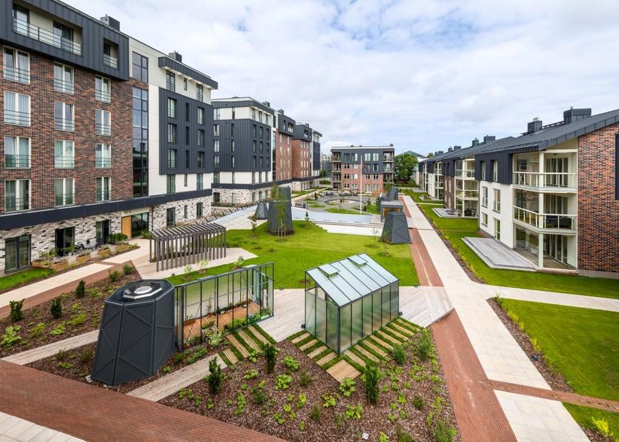 Kvartalisse kerkisid 12 uut hoonet. Foto: Merko Ehitus Eesti AS