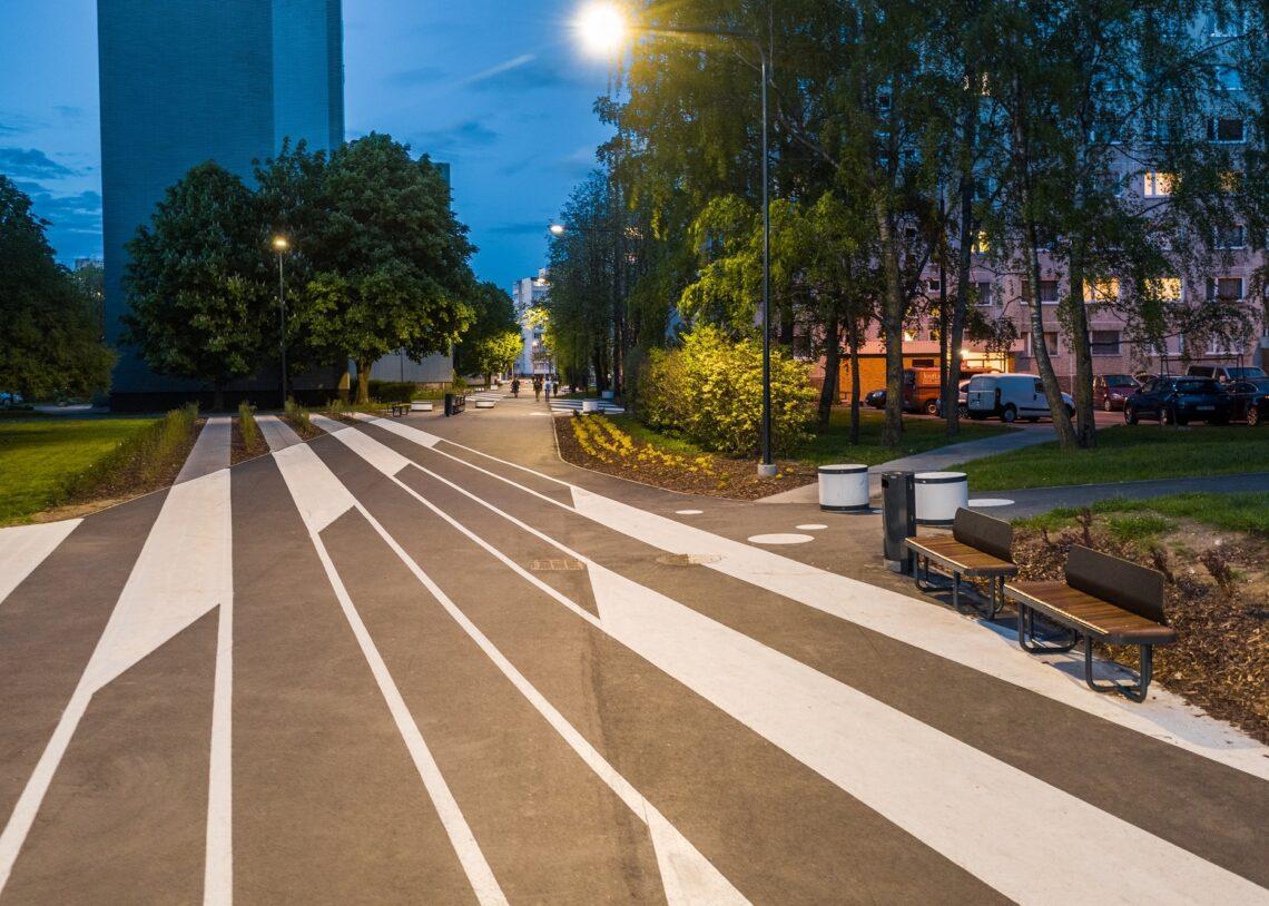 Pae asumi jalakäijate promenaad. Foto: Kaupo Kalda